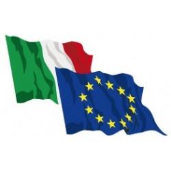 Set 2 bandiere Italia Europa