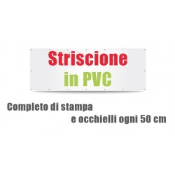 Striscione in PVC